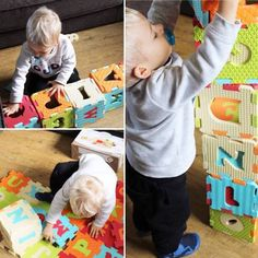 Les dalles Lettres et Chiffre pour bébé le suivront dans son évolution ©Bebepantoufle