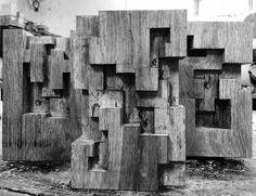 Alban LANORE / Work in progress / Little stele in oak.