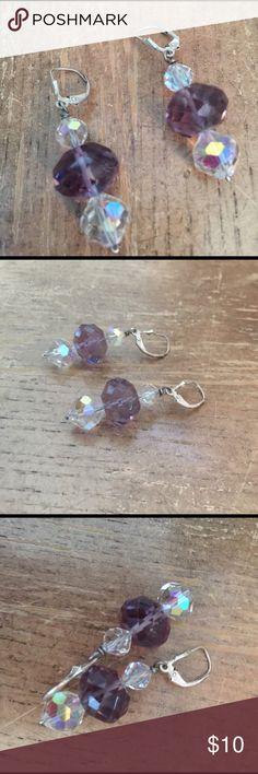 Earrings vintage Sterling silver 925 and Crystal🌸 Earrings Sterling silver 925 and Crystal 🌸 Jewelry Earrings