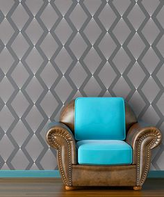 Look what I found on Liquid Silver Triamonds Self-Adhesive Wallpaper by Swag Paper Self Adhesive Wallpaper, Peel And Stick Wallpaper, Cool Wallpaper, Bedroom Color Schemes, Bedroom Colors, Wingback Chair, Armchair, Traditional Wallpaper, My Living Room