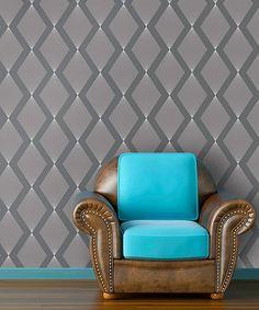Look at this #zulilyfind! Liquid Silver Triamonds Self-Adhesive Wallpaper #zulilyfinds