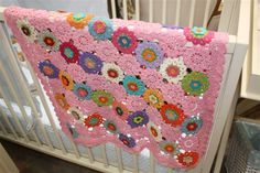 baby girl blanket 2 by uju1960,made up from japanese flowers. Lovely :)
