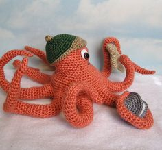 PDF Crochet Pattern OLLIE OCTOPUS English only