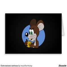 Cute mouse cartoon stationery note card