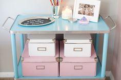 ACHADOS DE DECORAÇÃO - blog de decoração: ANTES E DEPOIS: um home office feminino em rosa e azulzinho