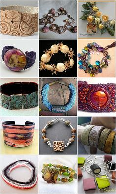 Polymer Clay Bracelets by humblebeads, via Flickr