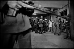 September Political prisoners are taken into the basement of the National Stadium for interrogation, after a U.-backed military coup overthrew and killed the socialist president of Chile, Salvador Allende. Latino Americano, Fotojournalismus, Chili, Central Intelligence Agency, Military Coup, National Stadium, Political Prisoners, American War, World History