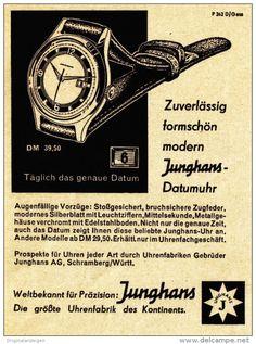 Original-Werbung/Anzeige 1959 - JUNGHANS DATUM-UHR - ca. 90 x 115 mm