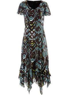 Шифоновое платье с рисунком (красно-ягодный/черный с рисунк)