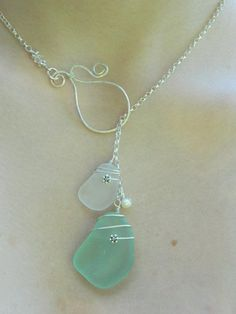 Sea Glass Lariat Necklace. $50.00, via Etsy.