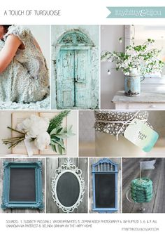 A touch of turquoise wedding inspiration featuring Elizabeth Messina