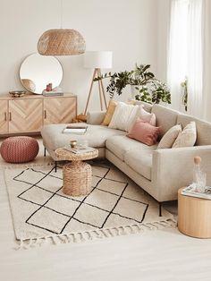 Home Room Design, Home Interior Design, Living Room Designs, Boho Living Room, Living Room Decor, Beige Living Rooms, Bohemian Living, Living Room Colors, Small Living Rooms