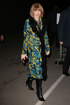 Anna Wintour - Arrivals at the Givenchy Show