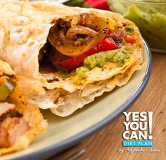 Breakfast Burrito - A healthy option for your Yes You Can! Diet Plan breakfast