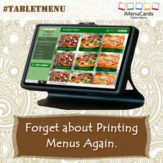 Don't waste time and money in printing paper menus! Get tablet menu for your restaurant now! Know more here: http://www.imenucards.com  #imenu #tabletmenu #digitalmenu #hotels