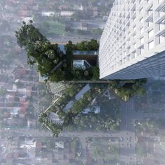 MVRDV proposes 400 meter tall 'vertical city' in Jakarta #architettura #design #grattacielo