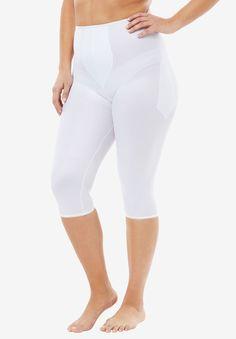 df4d6f3a4f2871 Light Shaping Pant Liner by Rago® , WHITE Calf Leg, White Pants, Plus