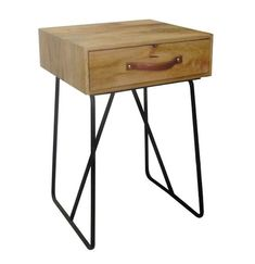 Wood & Metal Accent Table | These 16 Target Home Decor Finds Will Transform Your Space This Fall, Find Them Here: http://youresopretty.com/target-home-decor/
