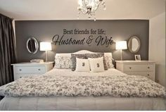 Are you and your husband or wife BFF's for life? Than this is the perfect Best Friends For Life Husband Wife Wall Art for your romantic bedroom ideas. - Home Decor Styles Master Room, Master Suite, Master Bath, Suites, My New Room, Home Bedroom, Ikea Bedroom, Warm Bedroom, Pretty Bedroom