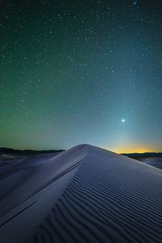 Mesquite Dunes At Night | Death Valley National Park | California