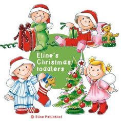 Eline's Coloured Digi Set - Christmas Toddlers