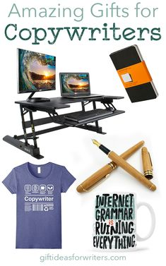 Fun and practical gift ideas for copywriters. Enhance their work day or make them smile. I love the bamboo fountain pen.