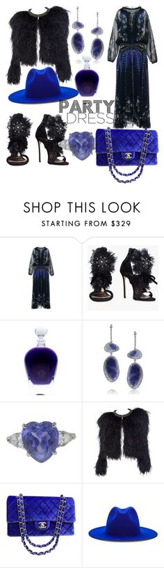 """""""Untitled #184"""" by lore8dana ❤ liked on Polyvore featuring Roberto Cavalli, Dsquared2, Mark Broumand, Chanel and Études"""