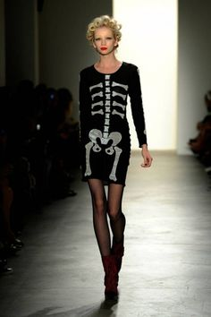 Maybe not for the runway..but I'd wear that for Halloween.