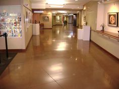 Hudson Hospital Bomanite Polished Concrete Floors installed by Concrete Arts