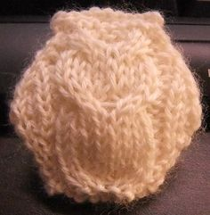 """Cabled owl hexipuff!!"" - Danielle is the best knitter I know!!!"