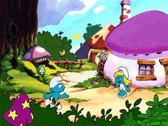 Hd Smurf village mobile phone wallpapers