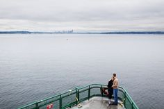 One of my favorite spots in general... definitely my favorite spot on the ferry. Especially on a drizzly day w/ some coffee and random goodies from Sluy's.