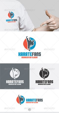 Karate Fans Logo — Vector EPS #judo #vector • Available here → https://graphicriver.net/item/karate-fans-logo/5272845?ref=pxcr