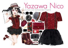 """Yazawa Nico [Love Live! School Idol Project]"" by ibuperisesat ❤ liked on Polyvore featuring Nico, Chicwish, Parker, Chanel, Laurence Dacade, Topman, Tai, Isaac Mizrahi, NLY Accessories and Illamasqua"