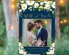 Wedding Photo Prop Navy and gold wedding photo booth frame Rustic Wedding Favors, Wedding Favors For Guests, Wedding Decorations, Wedding Etiquette, Wedding Photo Props, Wedding Photos, Wedding Ideas, Wedding Frames, Gold Wedding