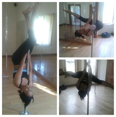 Pole fitness progress - upside down slide and invert