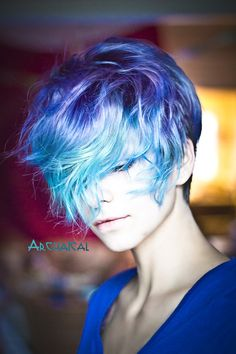 I really want this hair cut/style love the colors but I wouldn't do that at first maybe after a month or two of having the cut and it can be styled girly or boyish too
