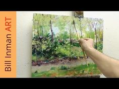 Paint a River and Spring Trees Art Class Oil Painting Demo - YouTube