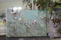 just stunning by Laurence Amelie Shabby Chic Art, Shabby Chic Couture, Shabby Chic Painting, Abstract Painters, Abstract Canvas Art, Romantic Flowers, Pink Flowers, Laurence Amelie, Wall Candy