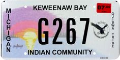 2009 Michigan INDIAN TRIBAL license plate (GIBBY CHOICE) Vanity License Plates, Michigan, Indian
