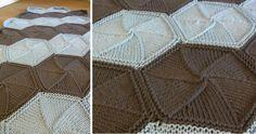 Hexa-ghan Knitted Afghan [FREE Knitting Pattern]