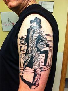 Captain Ahab Tattoo by David McNair