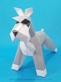 papercraft escultura de perro 3d Paper, Paper Toys, Origami Paper, Paper Crafts, Blender 3d, Biscuit, Metal Art Projects, Dog Sculpture, Art Carved