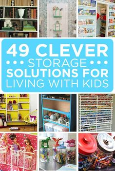 49 Clever Storage Solutions For Living With Kids Vraiment des bonnes idées! Toy Storage Solutions, Diy Toy Storage, Kids Storage, Storage Ideas, Ball Storage, Do It Yourself Organization, Organizing Your Home, Organising, Playroom Organization