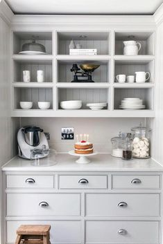 Kitchen wall units - Inside the home of Lydia Elise Millen – Kitchen wall units Kitchen Wall Units, Kitchen Shelves, New Kitchen, Kitchen Decor, Kitchen Cabinets, Kitchen Ideas, Updated Kitchen, Lydia Elise Millen, Home Design
