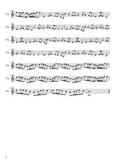 Sheet music made by DanSyo02 for Violin