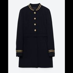 Manteau officier Zara