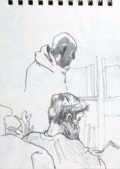 Coffee Shop Sketches - Original artwork by: http://davidhewittartist.com/ #Art…