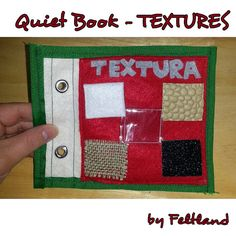 Quiet book; busy book; felt activity; felt book - textures