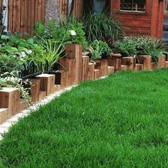Image Result For Landscaping With Wooden Sleepers And Grasses